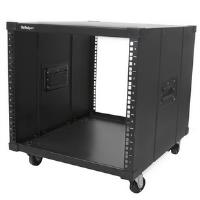 StarTech.com Portable Server Rack with Handles - Rolling Cabinet - 9U - Steel - 540 kg x Maximum Weight Capacity