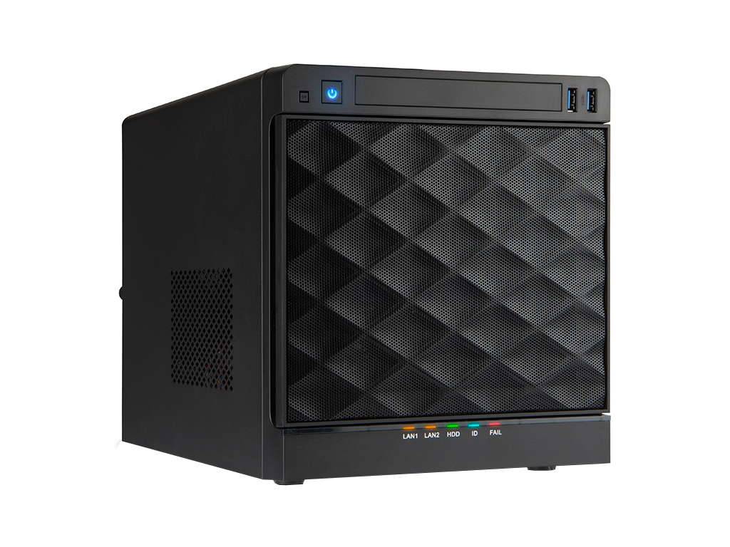 Ultra Quiet Small Cube NAS Server with Single PSU