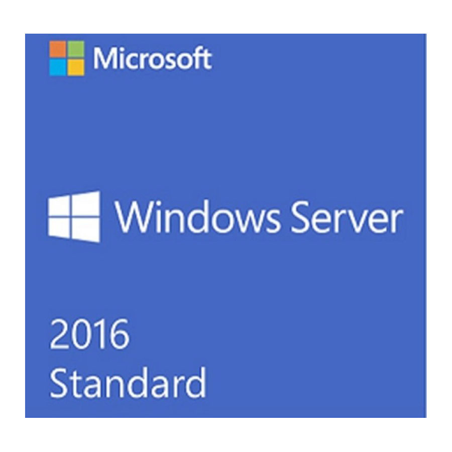 Microsoft Windows Server Standard 2016, OEM, DVD, 64-Bit, 16 Core, English
