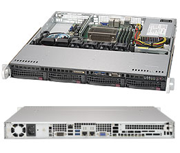 1U Xeon E5-2600 Supermicro Server with 4x Hot-Swap Bays - Single PSU