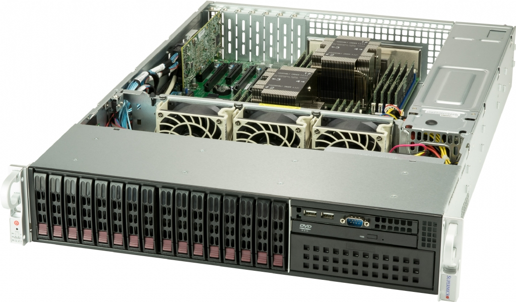 2U Xeon Scalable Supermicro Server with 16x Hot-Swap Bays