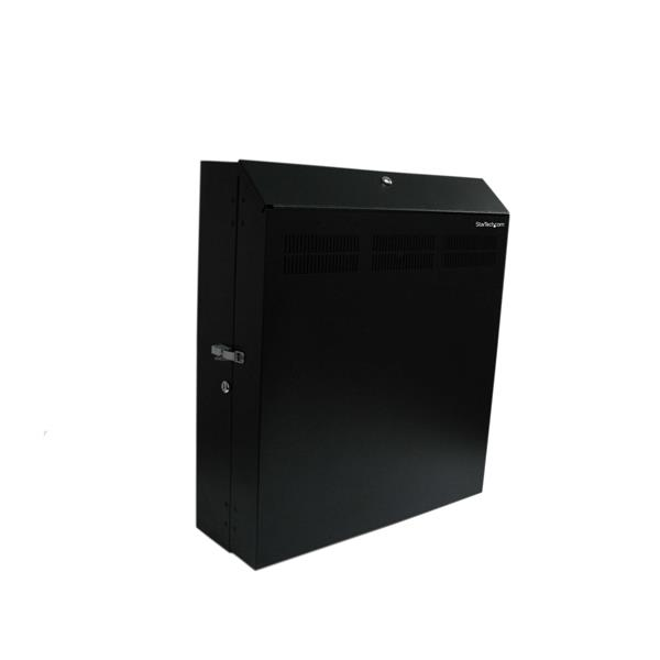 StarTech 4U 19 inch Secure Horizontal Wall Mountable Server Rack with 2 x Fans